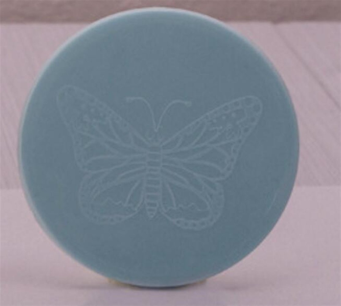 Yingealy Childrens Mirror Mini Round Cartoon Pattern Small Glass Mirrors Circles for Crafts Decoration Cosmetic Accessory Blue