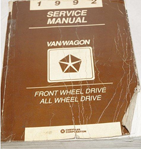 1992 DODGE RAM VAN WAGON CARAVAN Service Repair Shop Workshop Manual FWD + AWD -
