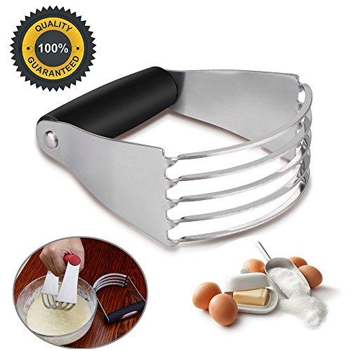Pastry Cutter Dough Blender, Top Professional Pastry Cutter with Heavy Duty Stainless Steel Blades by DiiZii