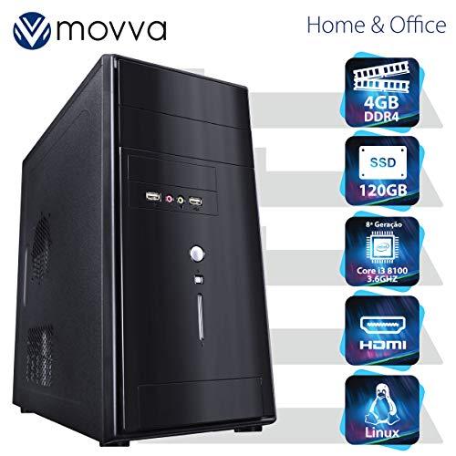 COMPUTADOR MERCURY INTEL I3 8100 3.6GHZ 8ª GER. MEM. 4GB SSD 120GB HDMI/VGA LINUX FONTE 200W - MVMCI3H310S1204 - MOVVA