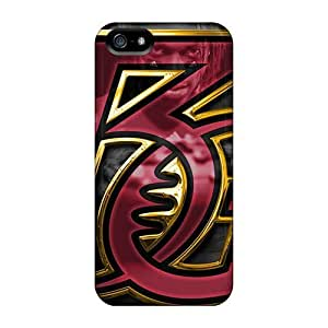 Bumper Hard Phone Cases For iphone 4s (AyY5995bltG) Unique Design Colorful Washington Redskins Pictures
