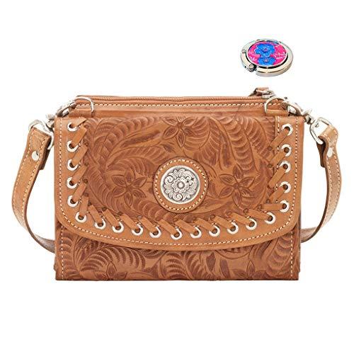 Moon Leather Holder Shoulder Handbag Hobo West Tan Purse Harvest Bundle American Awq5xvpYE