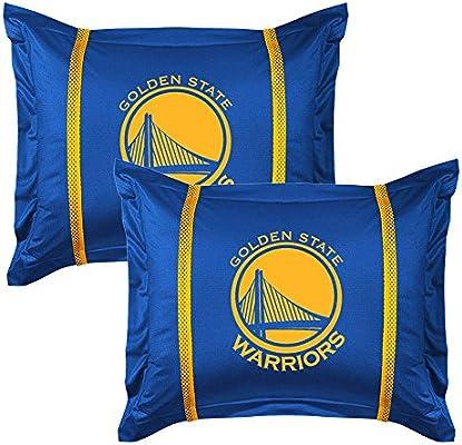 NBA 2pc Golden State Warriors Pillow Sham Set Basketball