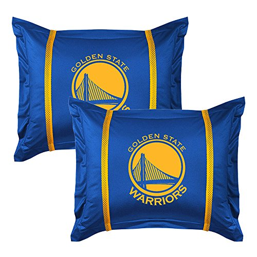 2pc NBA Golden State Warriors Pillow Sham Set Basketball Team Logo Bedding - Team Logo Pillow