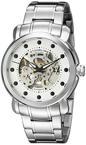 en's 644.01 Legacy Automatic Self-Wind Skeleton Silver Watch ()