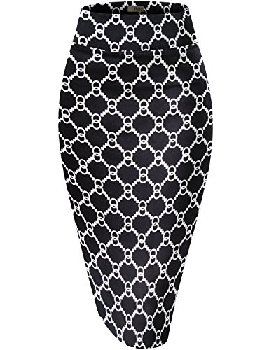 Womens Pencil Skirt for Office Wear KSK43584X 15 1X