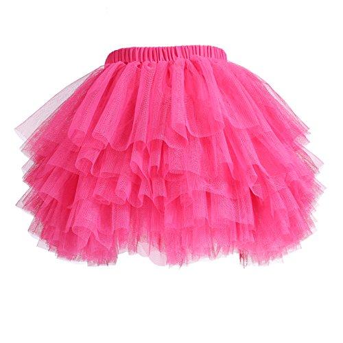 (Baby Girls' Tutu Skirt Toddler 6 Layered Tulle Tutus 1-8T)