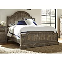 Panel Complete Bed Weathered Gray/Queen