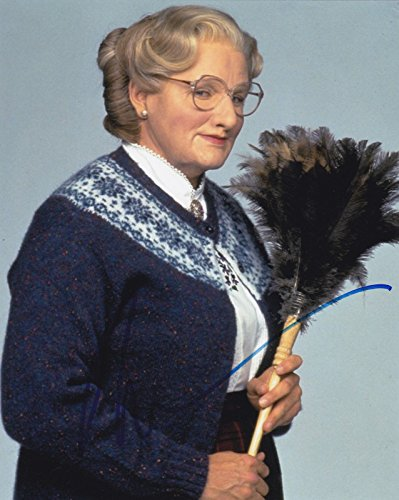 (ROBIN WILLIAMS SIGNED 8X10 PHOTO AUTOGRAPH MRS. DOUBTFIRE COMIC LEGEND COA H)
