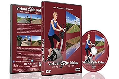 Virtual Cycle Rides - Vineyard in France - For Indoor Cycling, Treadmill and Running Workouts