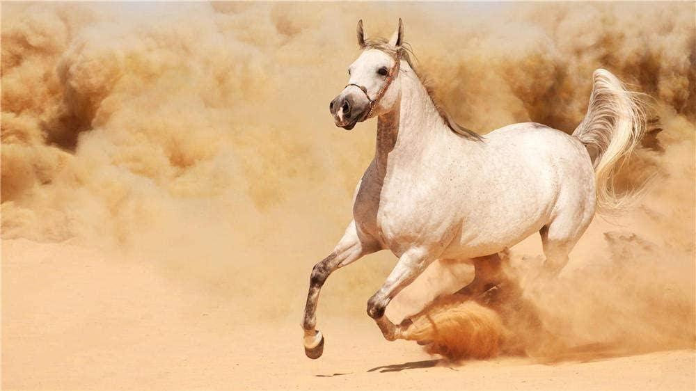 Rompecabezas 1000 piezas de rompecabezas de madera Rompecabezas caballo árabe animal doméstico melena jinete caballo adulto niños juguete
