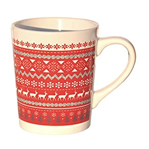 CLASSIC Christmas Gift Stocking Stuffer Ceramic Holiday Coffee Tea Mug Cup Gift Set Snowman Santa and HAPPY Slapstick for Teachers Friends Men Women (Classic)