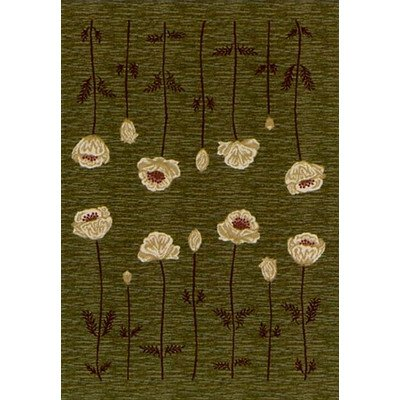 Innovation Poppy Olive Rug Rug Size: Round 7'7