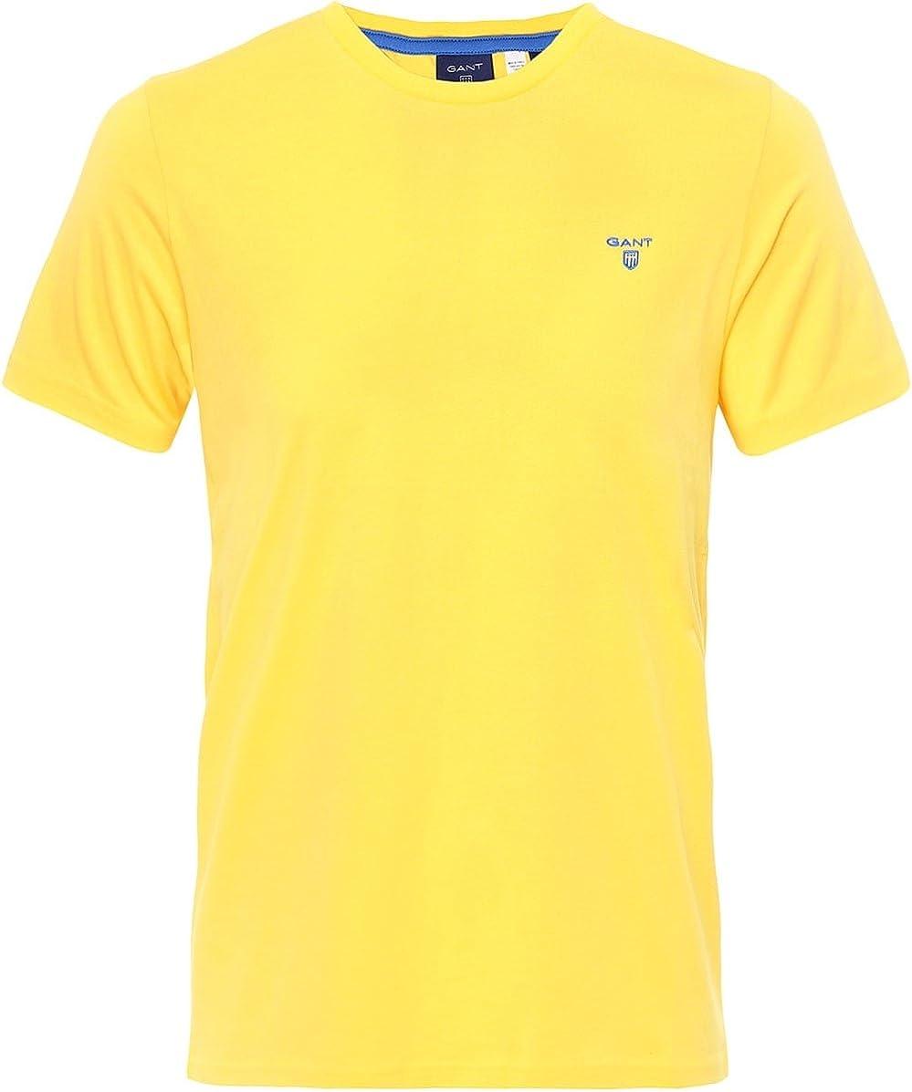 Gant - Camiseta - para hombre amarillo mango Large: Amazon.es ...