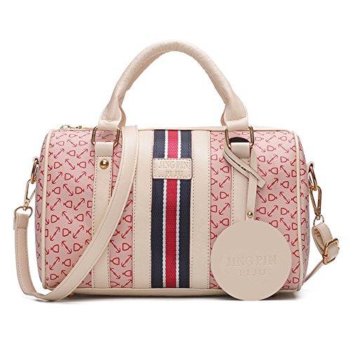 GWQGZ Bolso De Señora Nuevo, Bolso De Cuero De Pu De Moda Simple, Rosa Pink