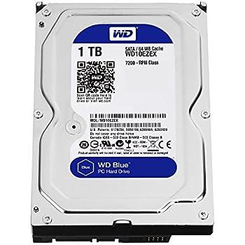 "Western Digital(WD) BLUE Deskptop 1TB( 1Terabyte) 3.5""Hard Disk Drive, 5400~7200RPM, SATA3 ( 6.0GB/s), 64MB Cache, IDEAL for PC/Mac/CCTV/NAS/DVR/Raid and SATA Applications, 1YR Warranty (Blue)"