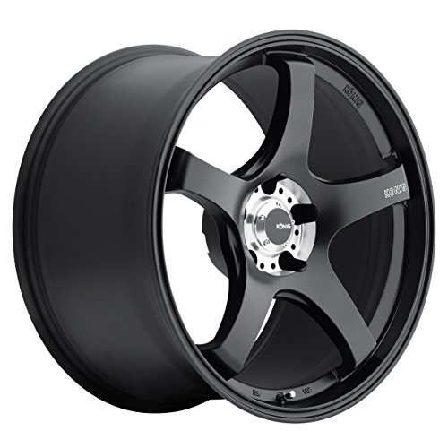 Konig CENTIGRAM Matte Black Wheel with Machined PCD (19x8.5''/5x114.3mm, +33mm offset) by Konig (Image #1)