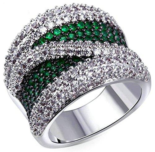 Bague-PersonnalisAdisaer-Bague-Femme-Plaque-Or-Bague-de-Fiancaille-Gravure-Bague-Diamant-Vert-Blanc-Taille-515-615