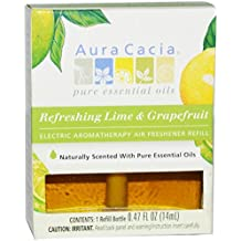 Aura Cacia Refreshing Electric Air Freshener Refill, Lime and Grapefruit, 0.52 Ounce
