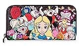 Alice in Wonderland and Friends Zip Around Wallet