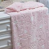 Jolitex 33.0710002.77186 - Cobertor Baby Super Soft em Relevo Estampado,100% Poliéster, 80cm x 1,10m, Rosa, Infantil