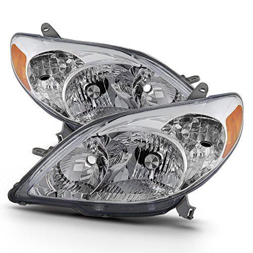 ACANII - For 2003-2008 Toyota Matrix Headlights Headlamps Replacement 03-08 Left+Rght Set Driver + Passenger Side