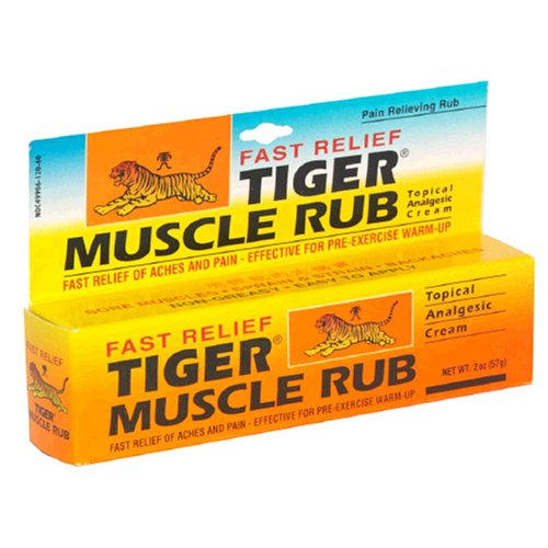 Muscle Rub Tiger crème analgésique topique 2 onces (57 g) (Pack de 4)
