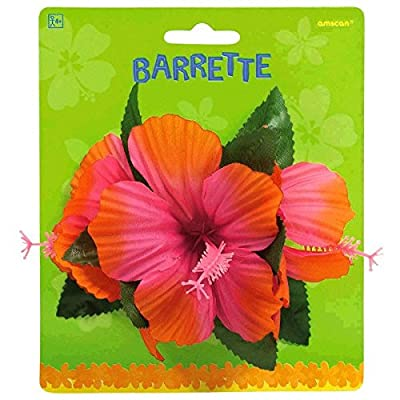 """amscan Hibiscus Party Barrette, 4"""": Kitchen & Dining"""