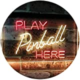 AdvpPro 2C Pinball Room Play Here Display Game Man Cave Décor Dual Color LED Neon Sign Red & Yellow 12'' x 8.5'' st6s32-i2619-ry