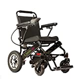 ComfyGO Electric Power Wheelchair Scooter Fold & Travel Lightweight Folding Safe Electric Wheelchair Motorized FDA Approved Aviation Travel Heavy Duty Power Wheelchair (Black)