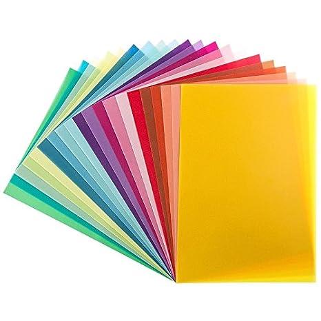 DIY u.v.m. 20 Transparentpapiere 130 g//m/² 20 Farben DIN A4 buntes Papier zum Basteln Scrapbooking Kartengestaltung
