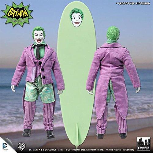 Batman Classic 1966 tv series Retro Action Figure; Surfing JOKER & surfboard