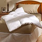 AllerEase 100% Cotton Allergy Protection Fiber Bed, White, Queen