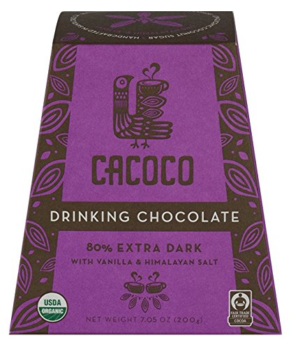 80% Extra Dark Drinking Chocolate - Certified Organic Hot Cacao/Fair Trade Cocoa - by CACOCO (7.05 ounces)