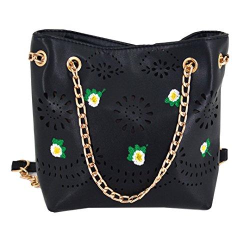 Millya - Bolso mochila para mujer, blanco (Blanco) - bb-01545-01C negro