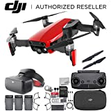 DJI Mavic Air Drone Quadcopter (Flame Red) + DJI Goggles FPV Headset (Racing Edition) VR FPV POV Experience Ultimate Bundle