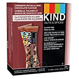 KIND Nuts & Spices, Dark Chocolate Cinnamon Pecan Gluten Free Bars, 1.4 Ounce, 12 Count
