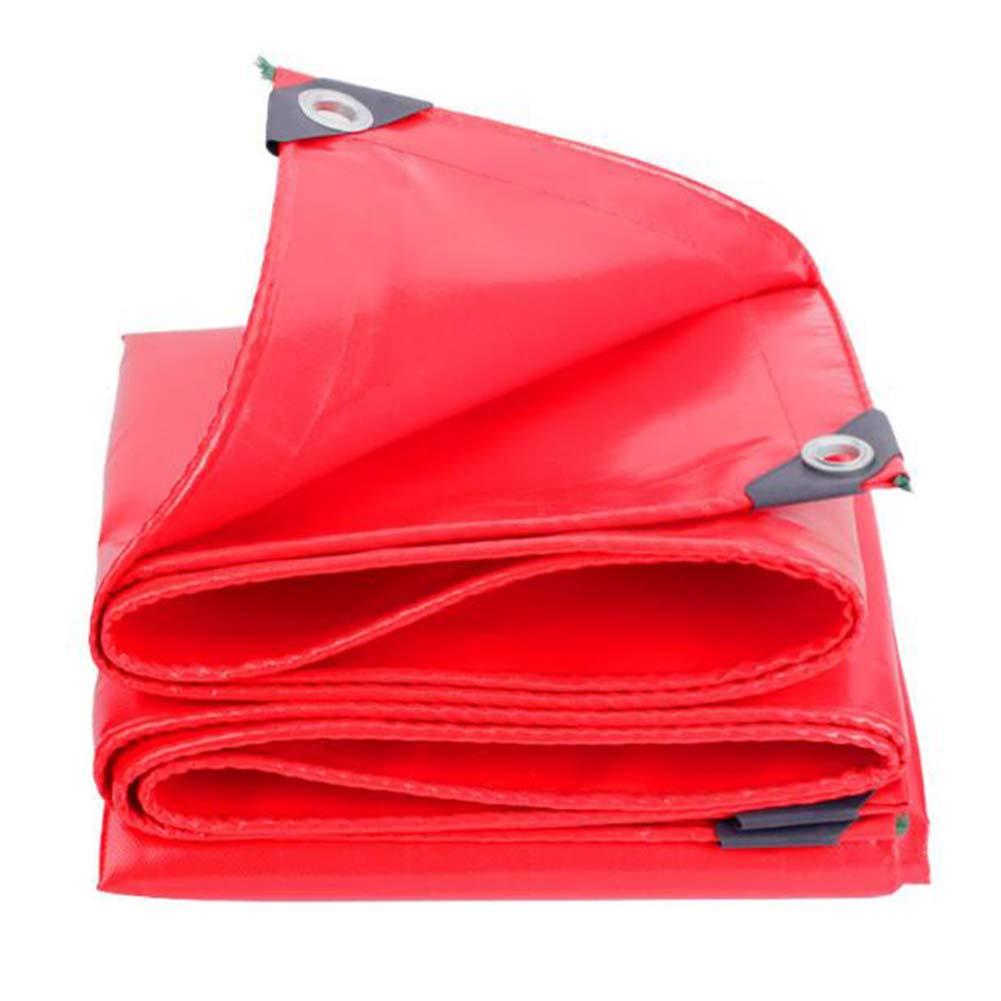 MuMa Plane Rot Verdicken Sonnencreme Regenfest Wasserdicht Isolierung Schatten (Farbe   rot, größe   3  6M)