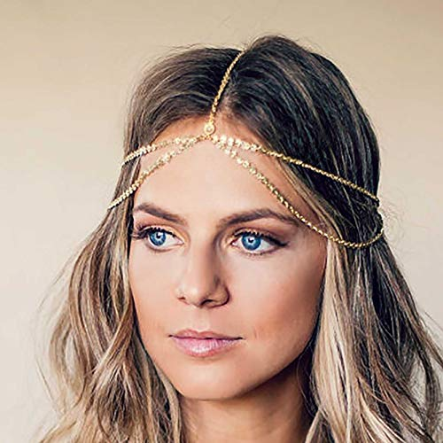 8614adec8 Unicra Wedding Alloy Sequines Headband Head Chain Decorative Bridal Hair  Accessories for Women and Girls