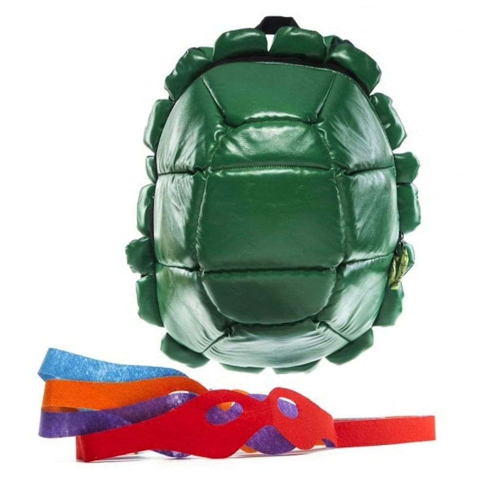 Bioworld Nickelodeon TMNT Shell mochila verde con 4 máscaras ...