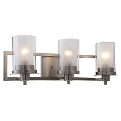 Designers Impressions Juno Satin Nickel 3 Light Wall Sconce ...