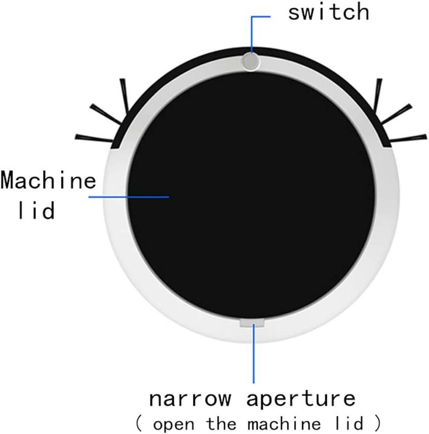 LXYDD Aspirateur Robot, 2400Mah 1800 Pa Forte Aspiration dans Le Sol,Rouge Black