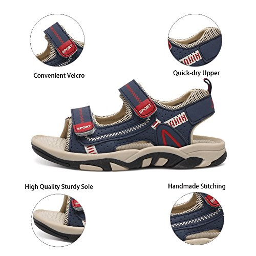 Picture of Sawimlgy Boys Girls Adjustable Straps Casual Sport Water Sandals Outdoor Hiking Shoes (Toddler/Little Kid/Big Kid)
