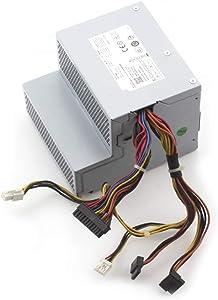 Mackertop 255W L255P-01 N249M Power Supply Replacement for Dell Optiplex 580 760 780 960 980 DT PSU AC255AD-00 H255E-01 F255E-01 D255P-00 DPS-255BB A V6V76 CY826 RM110 FR597