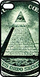 The All Seeing Eye From American Treasure Black Rubber Case for Apple iPhone 5 or iPhone 5s