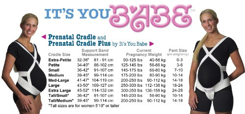 It's You Babe Prenatal Cradle Plus/V2 Supporter Combo, Large (250-300 Pounds) by It's You Babe (Image #1)