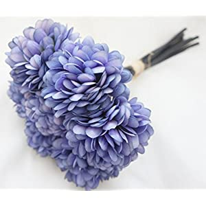 Lily Garden Silk Chrysanthemum Ball 7 Stems Flower Bouquet 26