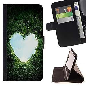 - Heart Valentines Eco Nature - Estilo PU billetera de cuero del soporte del tir???¡¯???3n [solapa de cierre] Cubierta- For Samsung Galaxy S3 III I9300 ( Devil Case )
