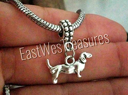 Dachshund Weiner Sausage dog charms pendant -for charm bracelet and chain necklace (Dachshund Pandora Charm)