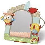Skip Hop Treetop Friends Activity Mirror, Grey Pastel (New Recolor)